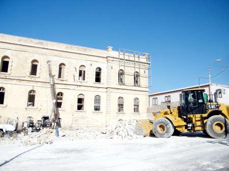 jafo: Reconstruction work near Yefet street in old city Jaffa, Israel