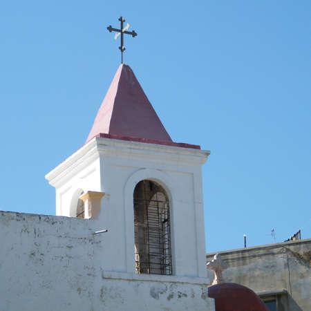 coptic orthodox: Cross of Coptic Orthodox Church in old city Jaffa, Israel