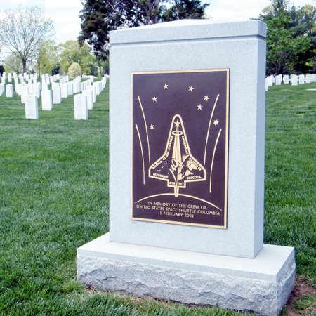 The Columbia Memorial in Arlington National Cemetery, Arlington Virginia USA Editorial