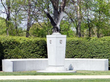national military cemetery: 101st Airborne Memorial in Arlington National Cemetery, Arlington Virginia USA Editorial