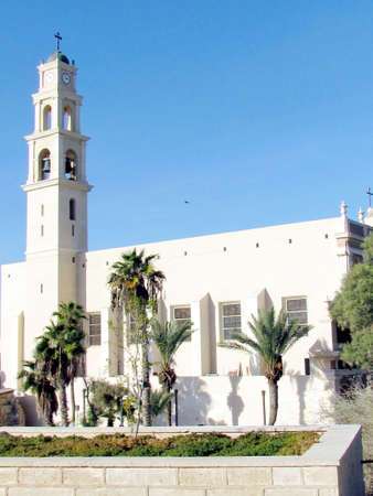 The building of Saint Peters Church in old city Jaffa, Israel                                  photo