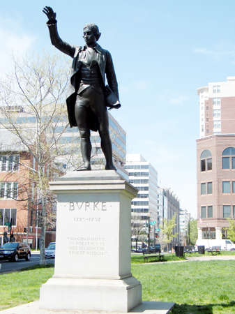 statesman: The Edmund Burke Statue in Washington DC, USA