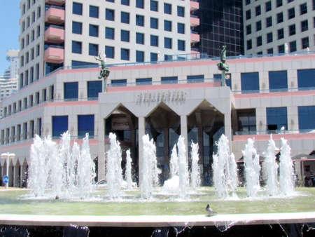 Fountain in front of the Beyt HaOpera building in Tel Aviv, Israel