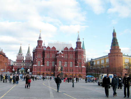 The square in front of Historical Museuml in Moscow, Russia