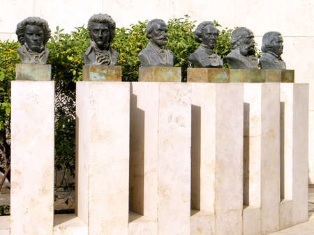 busts: Busts of great composers in Tel Aviv, Israel