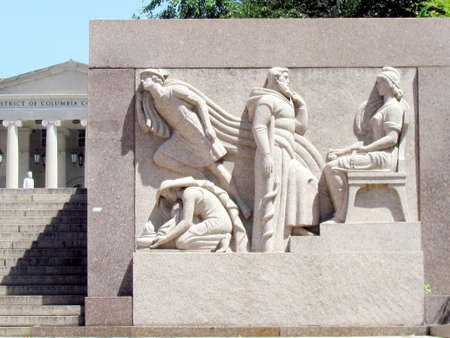 district columbia: Bas-relief near District of Columbia Court of Appeals  in Washington DC, USA Editorial