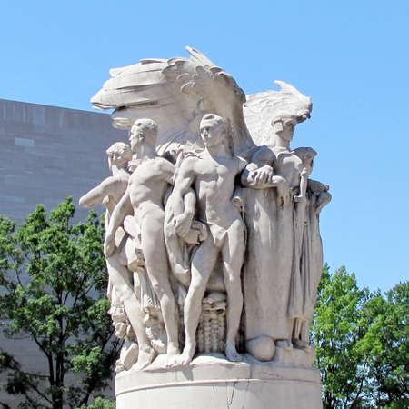 General George Gordon Meade of Gettysburg Memorial Civil War Statue in Washington DC, USA