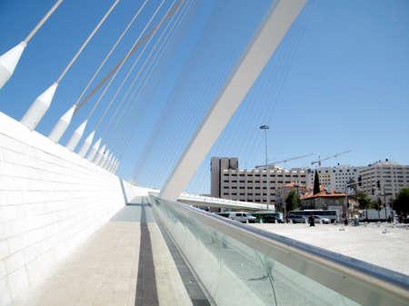Part of new chords bridge in Jerusalem, Israel