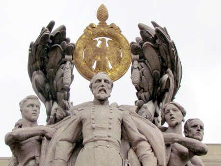 Top of statue of the General George Gordon Meade of Gettysburg Memorial Civil War in Washington DC, USA