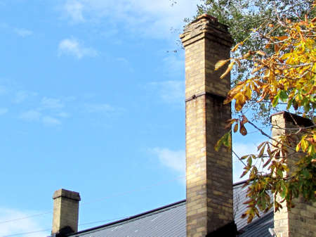 ontario: Chimneys of house in St. Jacobs Village Ontario, Canada