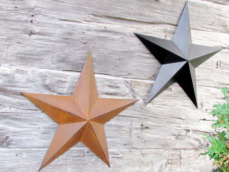 ontario: Stars on house wall in St. Jacobs Village Ontario, Canada Stock Photo