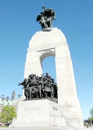 confederation: The National War Memorial near Canadian Parliament in Ottawa, Canada