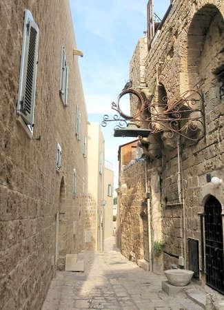 jafo: Netiv HaMazolot street in old Jaffa, Israel