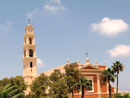 St. Peters Church in old city Jaffa, Israel photo