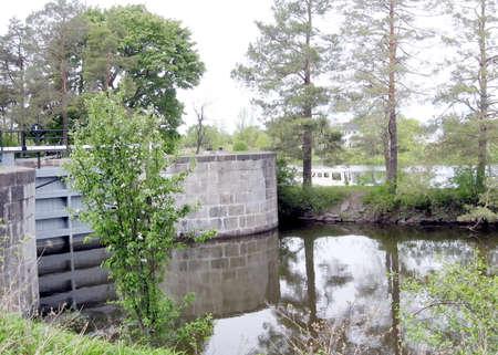 rideau canal: Lock on Rideau Canal in Nicolls Island in Ontario, Canada