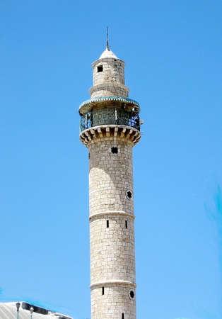 coran: Tall Minaret of Great Mosque in Ramla, Israel
