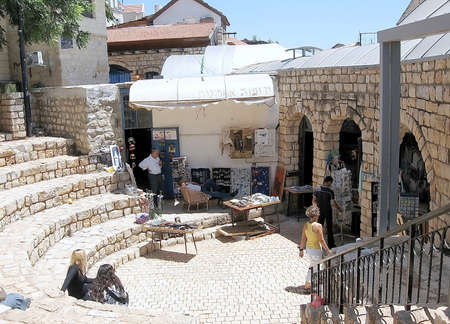 spirtual: Art Gallery in square of Old City Safed,Israel