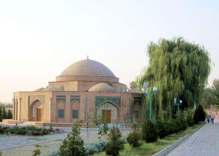registan: Chorsu Trading Dome near Registan at evening in Samarkand, Uzbekistan