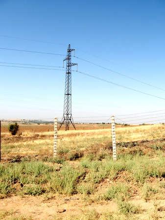 State border between Uzbekistan and Kazakhstan near settlement Mayskiy in Uzbekistan Reklamní fotografie