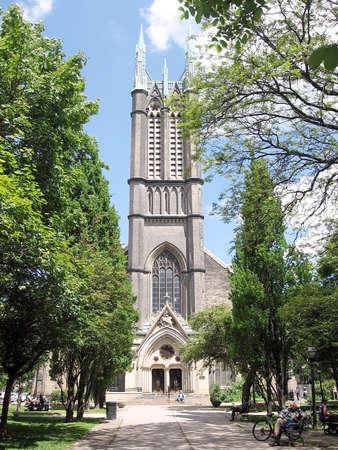 Metropolitan United Church in Toronto Ontario, Canada 版權商用圖片