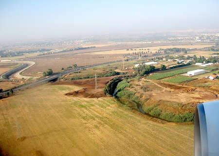 View to environs of Ariel Sharon Park near Tel Aviv, Israel
