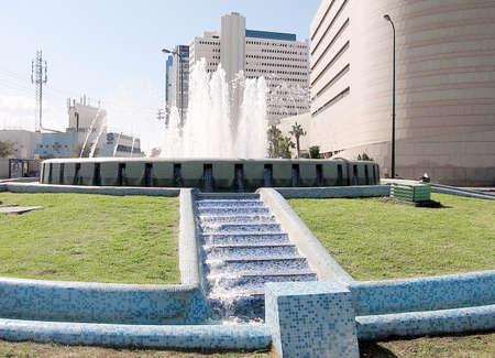 Fountain on Tomer Square in Tel Aviv, Israel