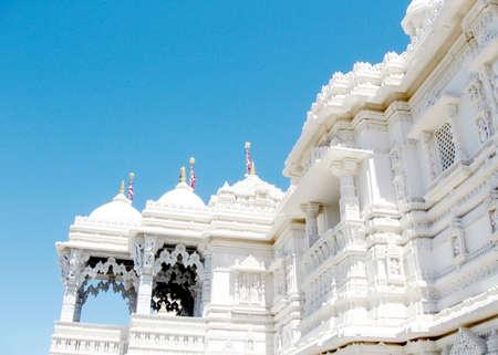 shri: The marble balconies of Hindu temple Shri Swaminarayan Mandir in Toronto, Canada