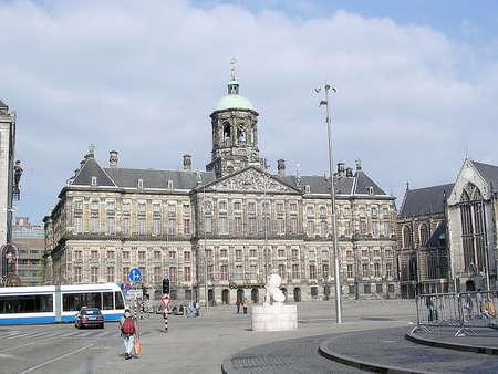 Some street scene in Dam Square of Amsterdam, Netherlands Stock Photo