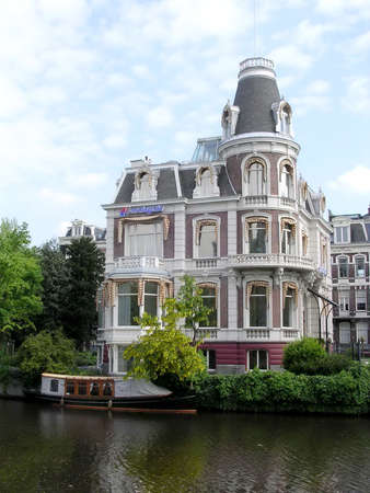 The Nassaukade canal in Amsterdam, Netherlands Editorial
