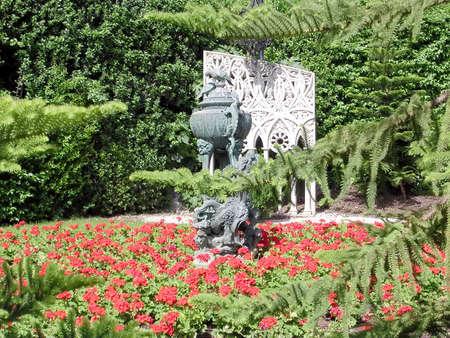bahaullah: The sculptural group of Bahai Gardens in Haifa, Israel