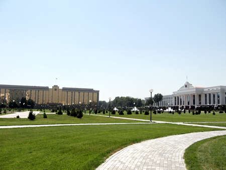 Cabinet of Ministers and Senate of Uzbekistan on the Independence Square in the city of Tashkent, the capital of Uzbekistan