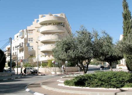 Reha Freier Square in Jerusalem, Israel Standard-Bild