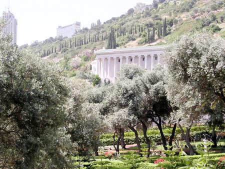 bahaullah: The upper part of Bahai Gardens in Haifa, Israel