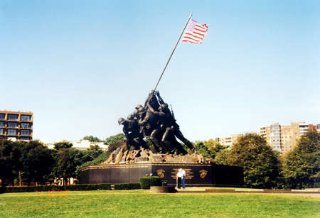 Iwo Jima Memorial in Arlington, Virginia USA Editorial