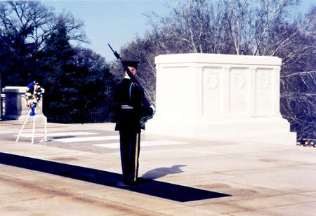 Tomb of the Unknown Soldier in Arlington National Cemetery, Arlington Virginia USA Editorial