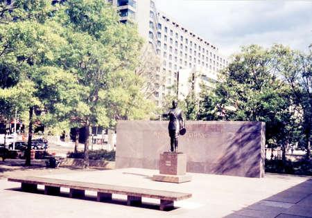 워싱턴 DC, 미국에서 일반 퍼싱 조각 에디토리얼