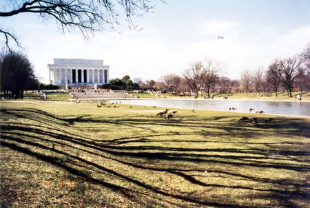 patriotism: View of Abraham Lincoln Memorial in Washington DC USA
