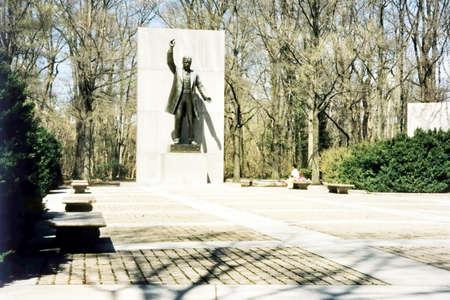 roosevelt: The Theodore Roosevelt Memorial on Theodore Roosevelt Island in Virginia, near the Washington, DC