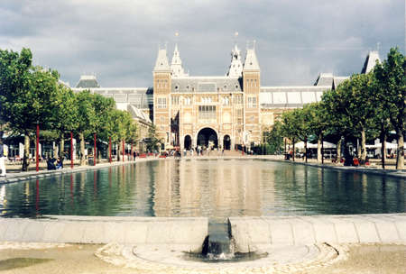 View of  Rijksmuseum in Amsterdam, in 2002, Netherlands Editorial