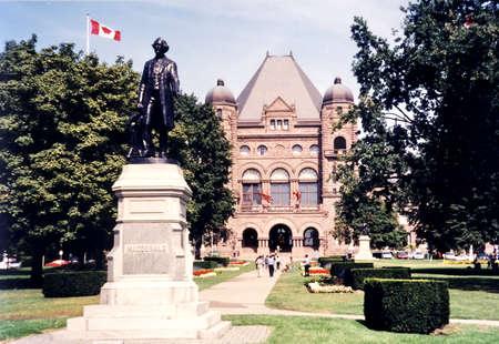 macdonald: The Macdonald Monument near Legislative Building in Toronto, in 2002, Canada