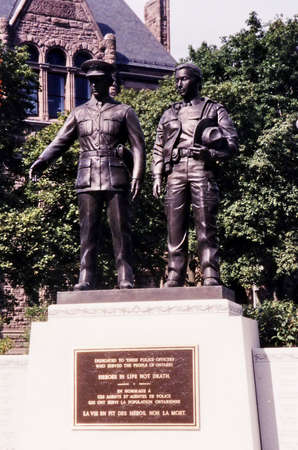 mountie: The Police Memorial in Toronto, in 2002, Canada