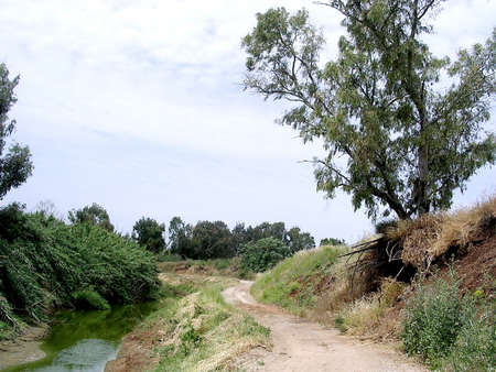 webfoot: The Ayalon River near Or Yehuda in Israel Stock Photo