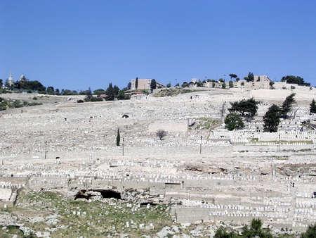 mount of olives: Cemetery on Mount of Olives in Jerusalem, Israel
