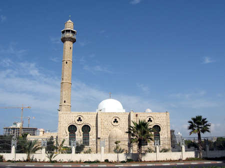 tel: The view of Hasan-bey Mosque in Tel Aviv, Israel