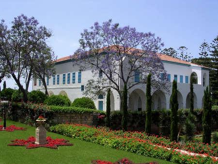 akko: The Mansion of Bahji in Bahai garden near Akko, Israel Editorial