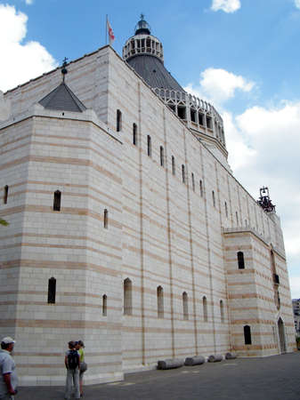 The Church of the Annunciation in Nazareth, Israel Editorial