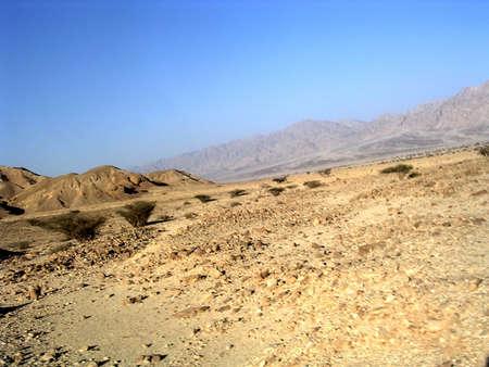 arava: Arava Desert in front of the mountains near Eilat in Israel