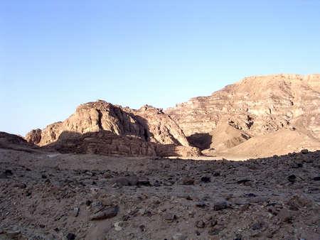 arava: Arava desert and mountains near Eilat in Israel Stock Photo