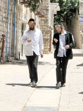 hasidic: Street in the Jewish religious quarter in Safed, Upper Galilee, Israel