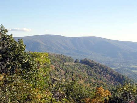 appalachian: Beautiful landscape in Shenandoah National Park, USA Stock Photo